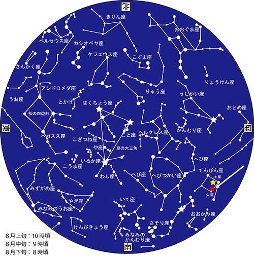 8月星図カラー