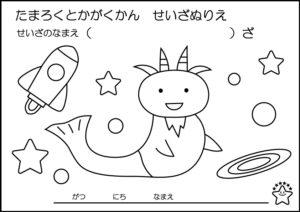 vol.10やぎ座【やさしいぬりえコース】
