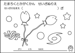 vol.12うお座【やさしいぬりえコース】