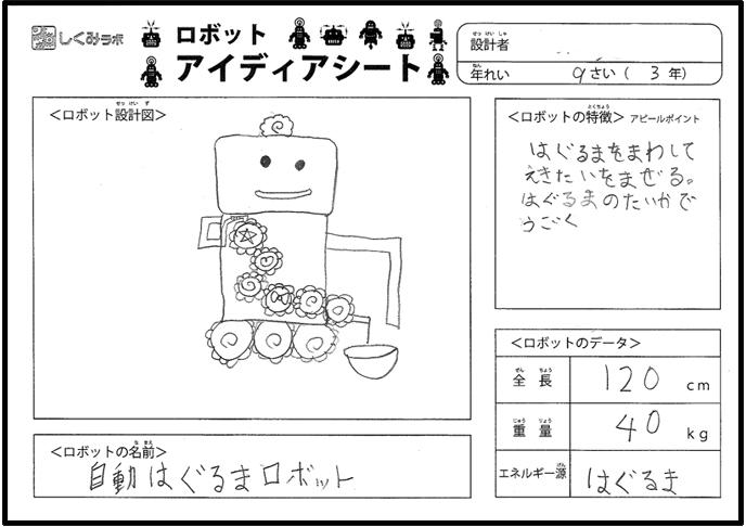 自動はぐるまロボット